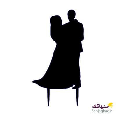 عروس و داماد 23 در اغوش هم مشکی