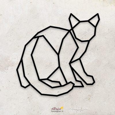 استیکر دیواری چوبی گربه ، استیکر چوبی دیواری گربه، استیکر دیواری گربه، استیکر چوبی گربه