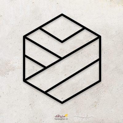 استیکر دیواری چوبی شش ضلعی ، استیکر چوبی دیواری مکعب، استیکر دیواری شش ضلعی، استیکر چوبی مکعب، استیکر دیواری چوبی اشکال هندسی