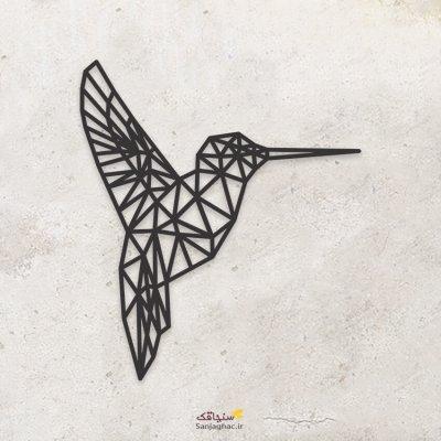 استیکر دیواری چوبی مرغ مگس خوار، دیوارکوب چوبی مرغ مگس خوار، استیکر دیواری چوبی، دیوارکوب چوبی، استیکر دیواری چوبی فانتزی، استیکر چوبی مدل نقطه و خط
